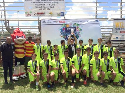 U14 White Coach Marcos Colman - Mega Cup tournament sub-champions