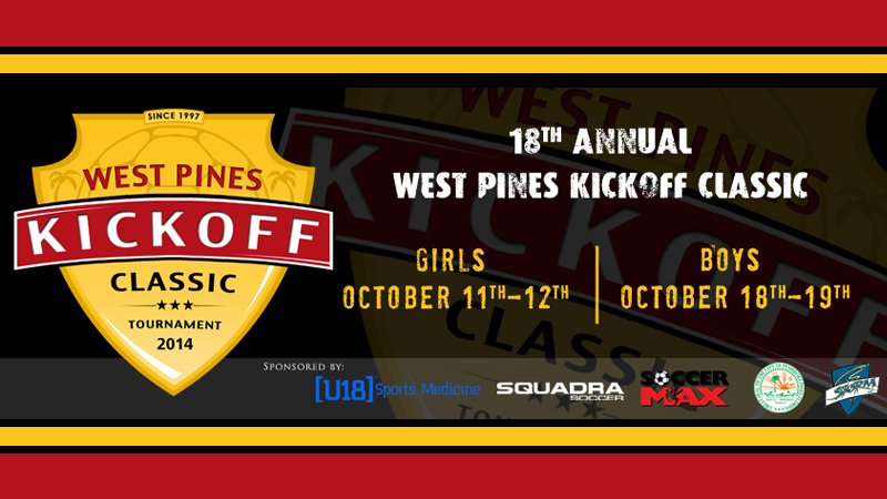 18th Annual West Pines Kickoff Classic October 18th – 19th, 2014