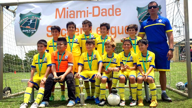U10 Blue Finalist Miami Dade Soccer League