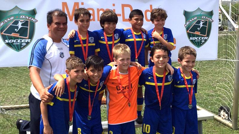 U9 White Champions Miami Dade Soccer League