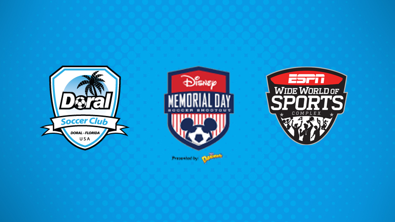 Disney Memorial Day Soccer Shootout Presented by Danimals May 26-29, 2017