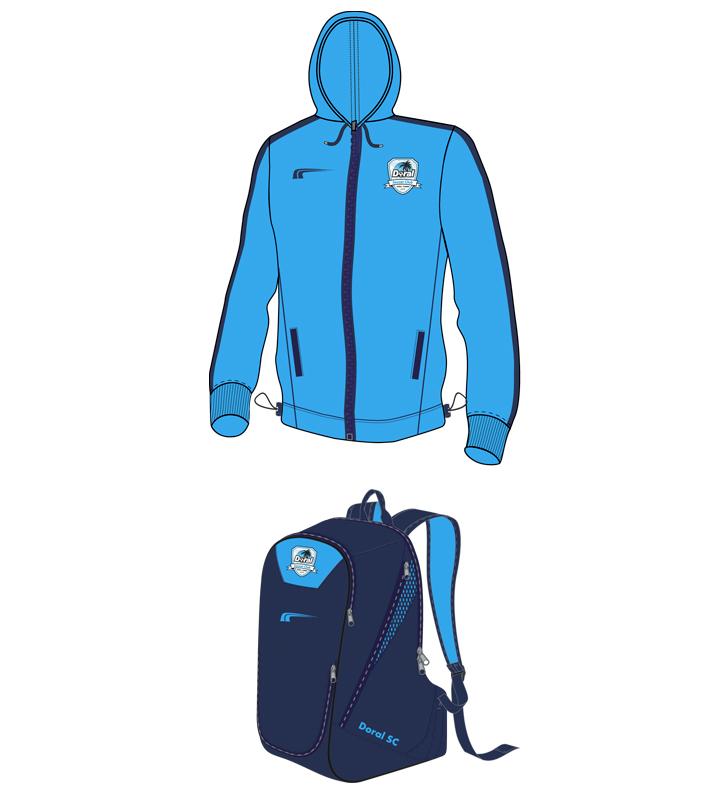Doral Soccer Club Uniforms c 2016