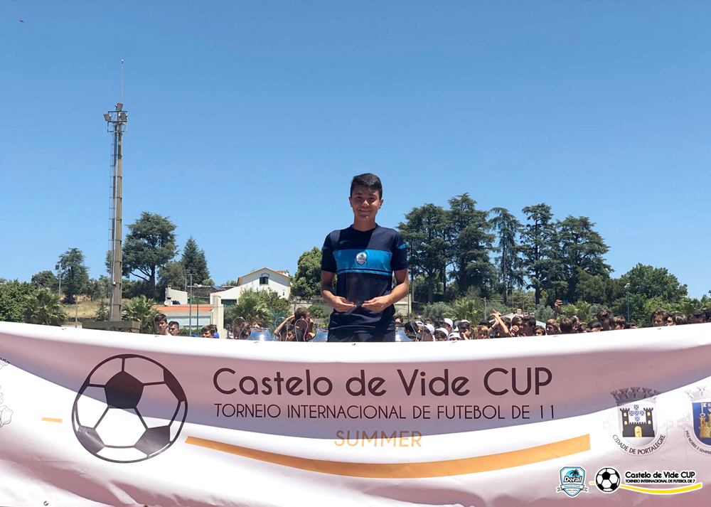 U14 & Coach Kevin Piraquive champions the Castelo de Vide Cup International Tournament Summer 2018 in Portugal
