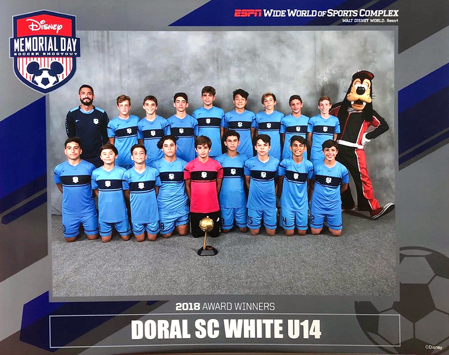 Disney Memorial Day, ESPN World Wide of Sports, Doral Soccer Club, U14 Champions