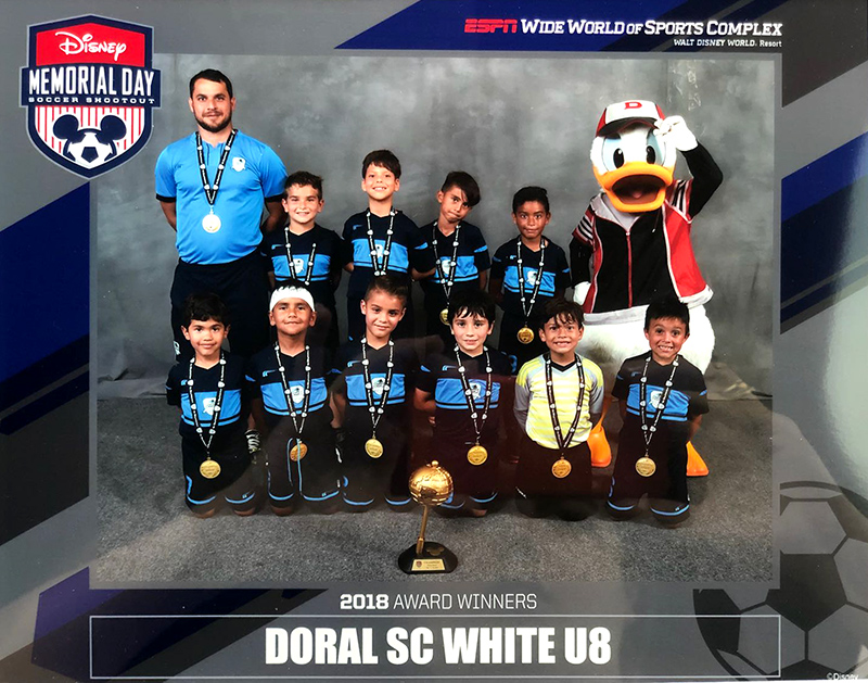 U8 White Champion's Disney 2018