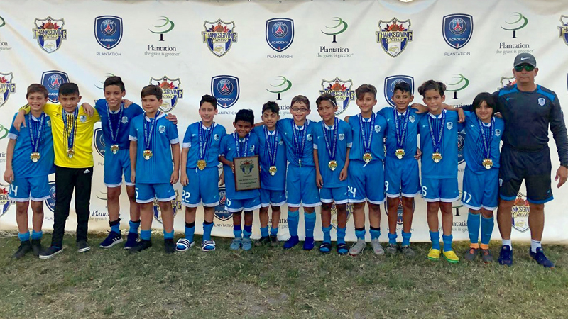 U12 Premier Champion's Plantation Tournament Thanksgiving Nov 2018
